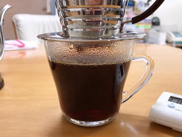 コーヒーを抽出したところ