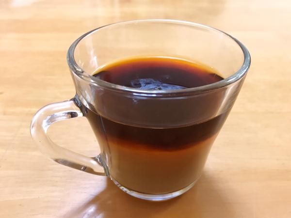 コーヒーin砂糖と牛乳