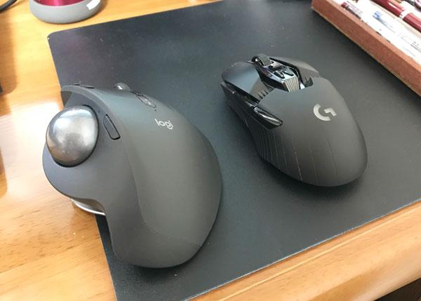トラックボールとマウス