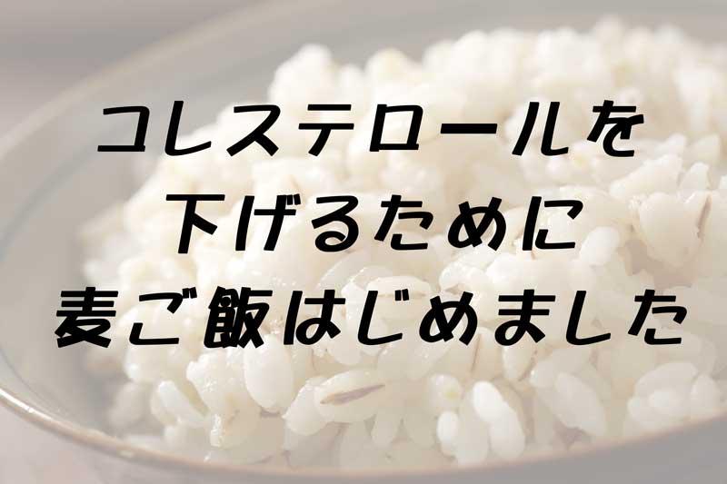 麦ご飯はじめました