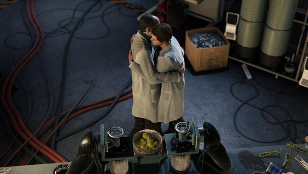 抱き合うオットーとピーター