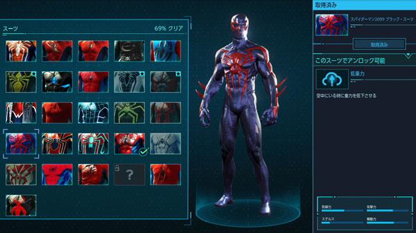 スパイダーマン2099ブラック