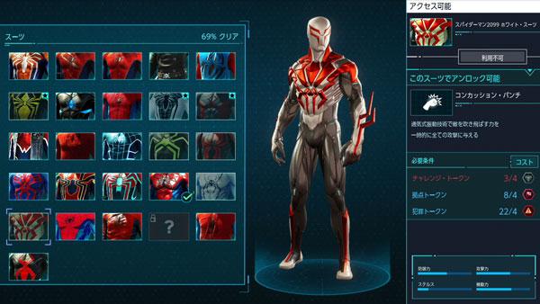 スパイダーマン2099ホワイトスーツ